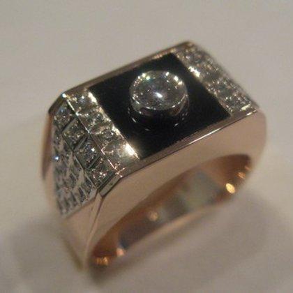 Vīriešu gredzens ar dimantu