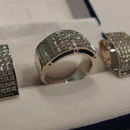 Комплект кольцо и сережки