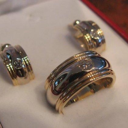 Комплект сережки и кльцо